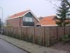 Gegalvaniseerd betongaas met wilgentenen en Hedera