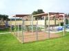 Aanleg tuin met vlonder en windschermen van glas